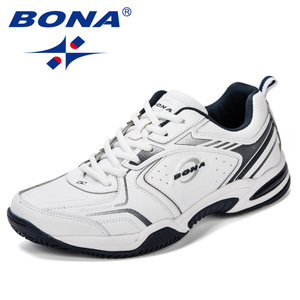 Image 4 - BONA New Popular Men Tenis Shoes Leather Outdoor Sport Shoes Classics Jogging Shoes Comfortable Trendy Man Sneakers Shoes