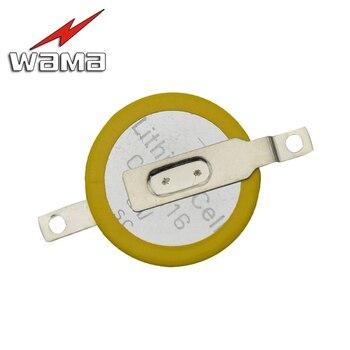 50pcs/lot CR1616 Button Cell Batteries 3V 2 Feet Welding Solder Pins 50mAh Watch Accessories 1616 ECR1616 LM1616 Coin battery