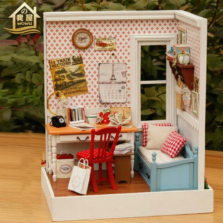 xxxg mini manual choza diy lodge ciudad modelo de juguete nios nias enviar el regalo de cumpleaos
