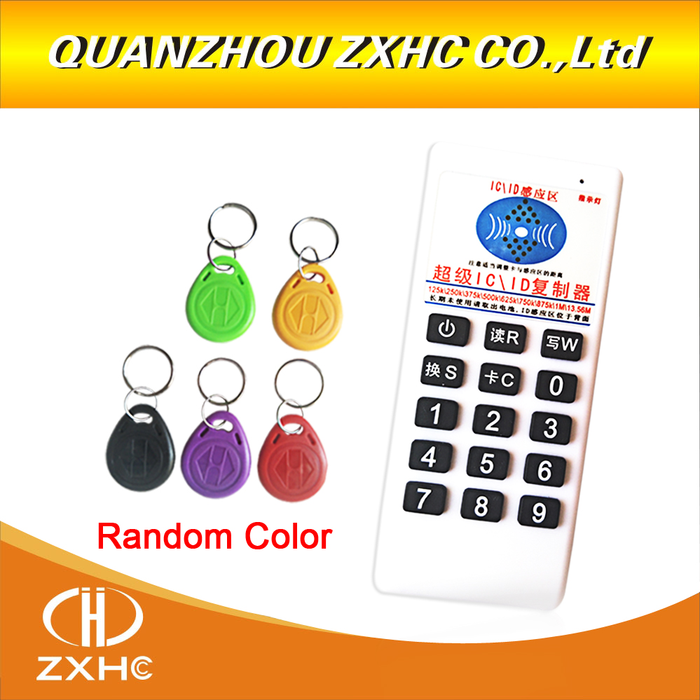 RFID 125 khz ID 13.56 mhz IC Copieur Lecteur Écrivain pour EM4305 T5577 UID Modifiable Tag ajouter 5 pièces em4305 touches