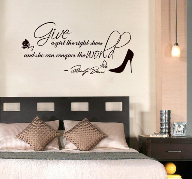 Enjoy Free Shipping Marilyn Monroe Wall Quote Saying Wall Decals Sticker Decoration Give A Girl