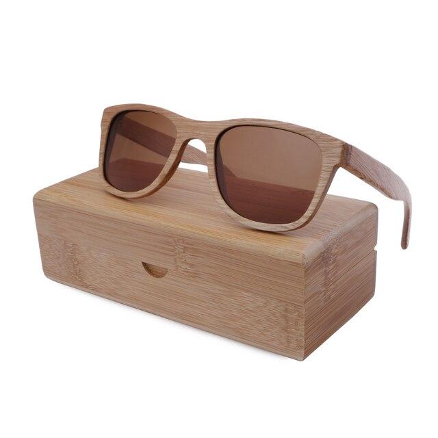 New 2016 Bamboo Sunglasses Men Wooden Sunglasses Women Designer Mirror Original Wood Sun Glasses