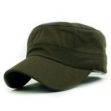 3a0daa53793 Unisex Classic Plain Cap Vintage Army Hat Cadet Military Patrol Cap  Adjustable Best Cadet Classic Style