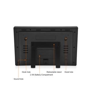 Image 4 - Wireless Weather Station Digital Display Alarm Clock Sauna Temperature Indoor Outdoor Thermometer Hygrometer most up 4 Sensors