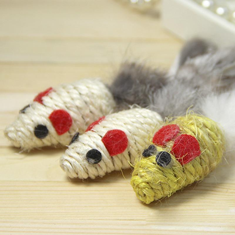 High quality product for pet sisal mouse cat toy funny cat for Cat toys for when you re not home