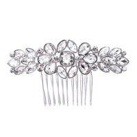 Fashion Flower Bridal Wedding Hair Comb Gold Silver Rose Gold Rhinestone Crystal Bride Hair Accessories Women