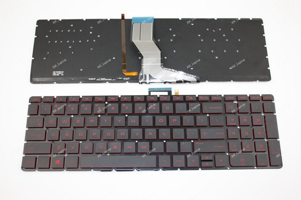 New HP Pavilion 15-AB008TX 15-AB010NR 15-AB010TX 15-AB020NR Keyboard US Backlit