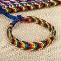 ABL0221(120), Cheap Colorful Wide Retro Handmade Nepal Geneva Brazilian Multicolor String Cord Woven Braided Friendship Bracelet
