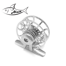 CNC Machined Aluminum Fly Fishing Reel left Right Handed Silver Golden