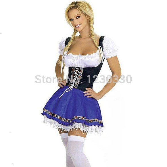 Free Pp WalsonstylesWomenu0027s 2014 Halloween Costume Patterns Beer Maid Costume  Halloween Costume S 5XL Plus Size Costume