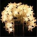 4 M 40 LEDs Bateria 3AA Powered Tema Em Forma de ESTRELA LED Luzes Cordas de Fadas Do Casamento Do Feriado Do Natal Iluminação Decoração do partido