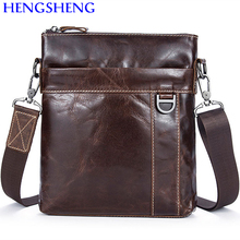 Hengsheng cheap price genuine leather men shoulder bags for business leather bag men messenger bag of casual men shoulder bags