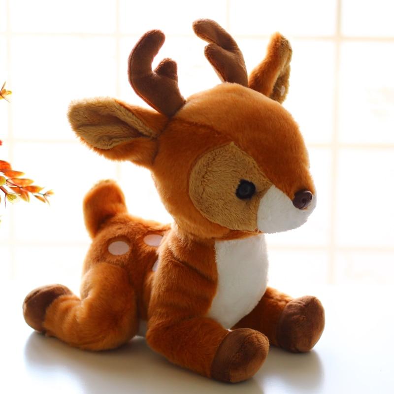 1pc Little Soft Deer Realistic Deer Plush Toy Doll Lifelike Deer Doll Giraffe Doll Car Decoration Ornaments Birthday Gift