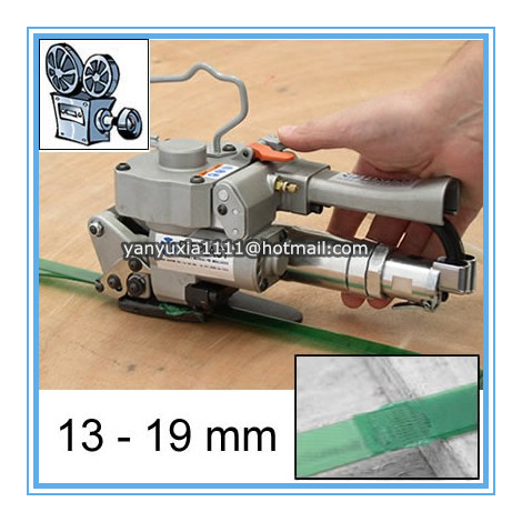 AQD-19 Hand Pneumatic PET/PP Plastic Strapping Tool, PET/PP Plastic Strapping Machine ,Friction Welding Banding Tool for 13-19mm