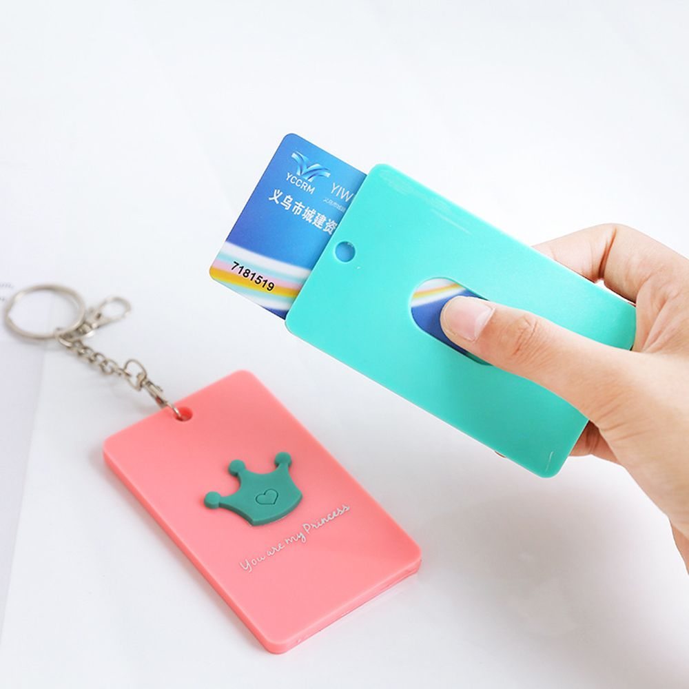 Cute access card cover portable card & ID holders student bank bus hanging neck card cover