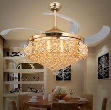 LED Nordic Zinc Alloy Crystal Ceiling Fan LED Lamp.LED Light.Ceiling Lights.LED Ceiling Light.Ceiling Lamp For Foyer Bedroom