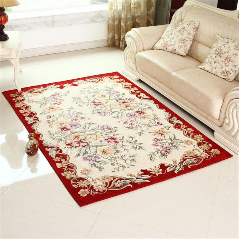 Pastoral Floral Rugs And Carpets For Home Living Room Luxury Bedroom Floor Mat Coffee Table Area