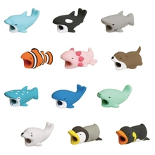 1pcs Cable Bite Protector For Iphone Cable Biters usb Dog Panda Animal Mobile Phone Connector Accessory Dropshipping Squishy Toy(China)