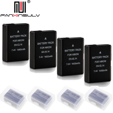 4x EN-EL14 en el14 digital battery for Nikon D5300 SLR camera battery D5600 D5100 D5200 D5500 D3500 D3400 D3300 D3200 Tracking meike fc 110 fc110 led macro ring flash light for nikon d500 d5 d7500 d3400 d3300 d810 d800 d750 d7200 d5600 d5500 d5300 d5200