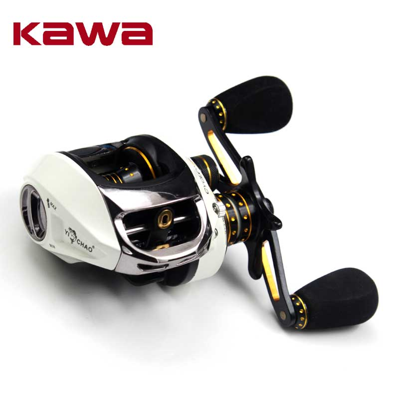 Kawa New Bait Casting Fishing Reel Gear Ratio 6.5:1 Bait casting Reel Magnetic Brake Bearing 9+1 Eva Knob 185g Max Drag 4.5KG trulinoya full metal body baitcasting reel 7 0 1 10bb carbon fiber double brake bait casting fishing reel max drag 7kg