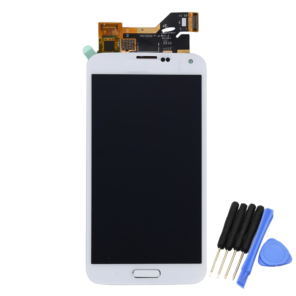 LCD Display For Samsung Galaxy S5 i9600 G900A Touch Screen With Digitizer Assembly + Home Button FlexTools+, Free Shipping!