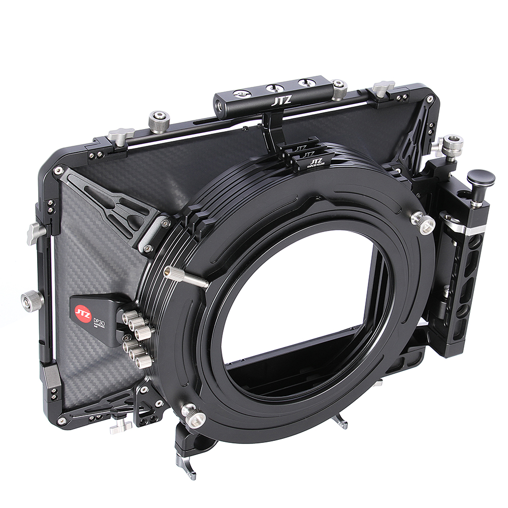 JTZ DP30 Cine Carbon Fiber 6x6 Matte Box 15mm/19mm For Sony ARRI RED CANON BMD Sony ARRI RED C100 C300 FS5 FS7 BMPCC yandex w205 amg style carbon fiber rear spoiler for benz w205 c200 c250 c300 c350 4door 2015 2016 2017