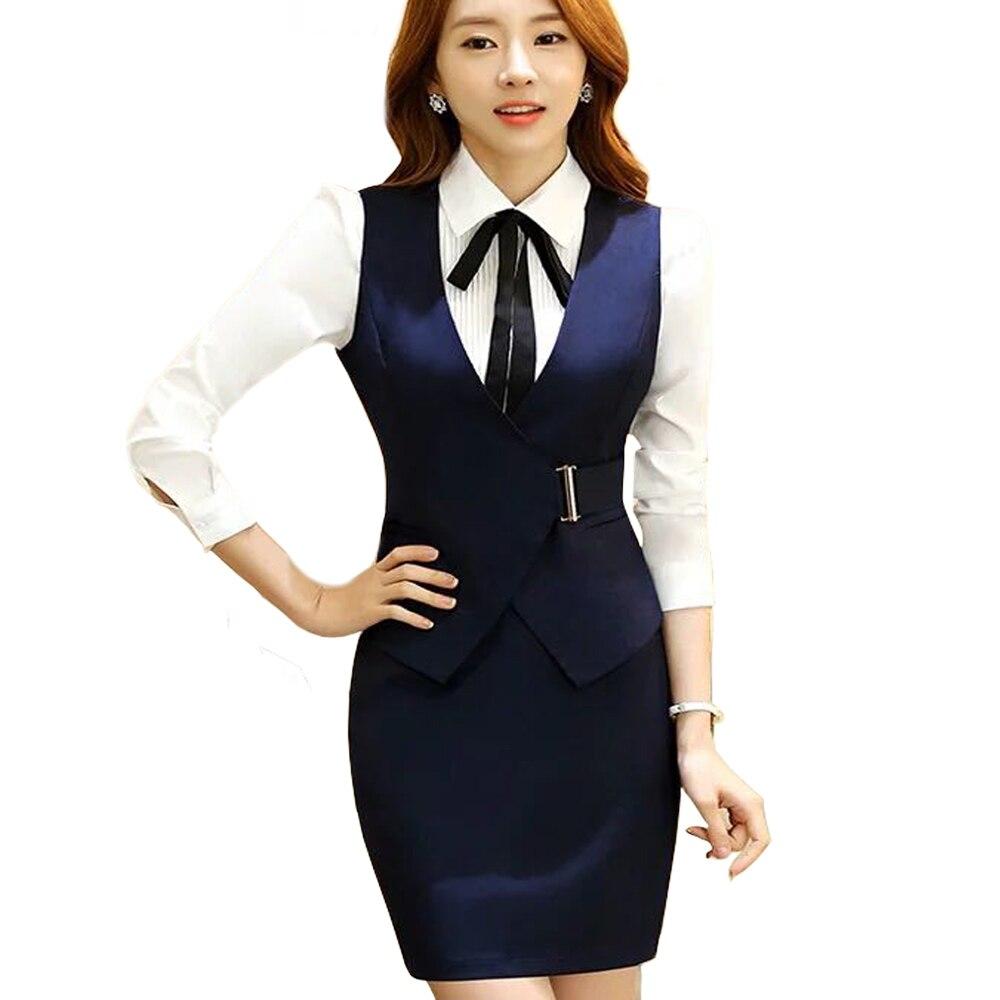 4e8668dbe857a9 Frauen Kleidung & Zubehör Neue Airlines Stewardess Uniformen  Arbeitskleidung Ladys Weste Und Rock/hosen Eingestellt Hotel Uniformen  Schönheit ...