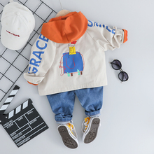 2019 Autumn Toddler Boys Clothes Suits  Baby Kids Clothing Set Letter Coat Hooded t Shirt Pants Sets Infant  Children Costume autumn winter kids boys clothing set hooded letter printed thick fleece red black hoodies and pants children christmas clothes