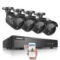 Newing SANNCE Home Security HD 1080N 1080P 8CH DVR 4PCS 720P 1 0MP IR CUT White