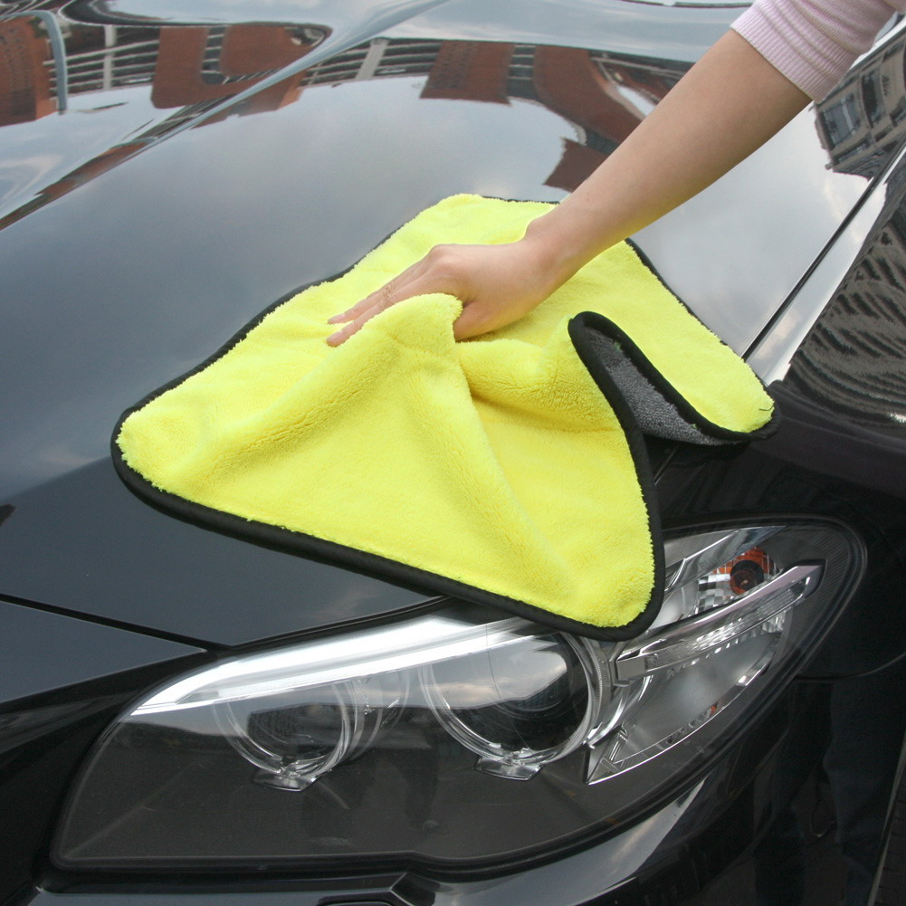 45cm x 38cm 800GSM Durable Super Thick Plush Microfiber Car Cleaning Cloths Car Care Microfibre Wax Polishing Detailing Towels