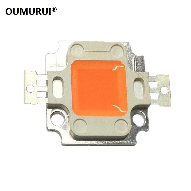 10pcs10W LED COB CHIP High Power Led Lamp Plant Growlight Full Spectrum 400-840nm EPILEDS Chip 9-11v 900-1050mA  Free Shipping