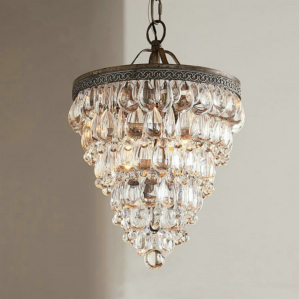 Dining Room Crystal Chandeliers: Luxury Large Modern Crystal Drop Round LED Chandelier For