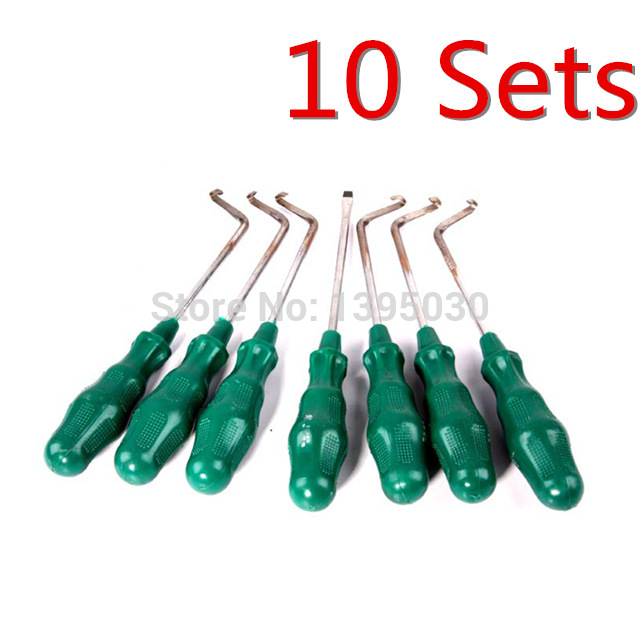 Free Shipping By DHL 10Sets Lot 7in1 Open Headlight Cold Glue Tool font b Knife b