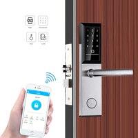 Bluetooth TTLock приложение электронный цифровой дверной замок Wi-Fi управление сенсорный код на клавишной панели RFID карты без ключа вход умный двер...