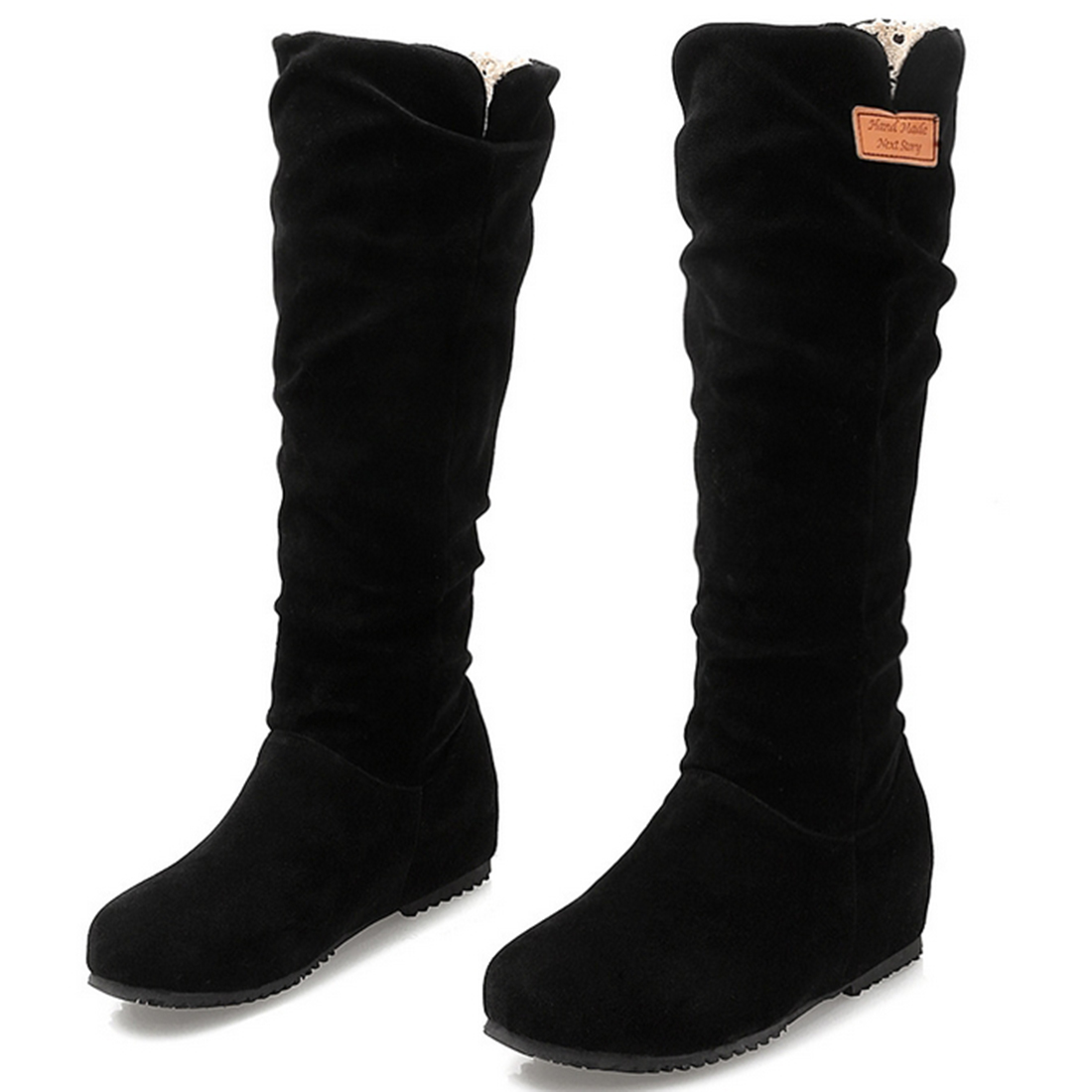 Online Get Cheap Suede Thigh High Flat Boots -Aliexpress.com ...