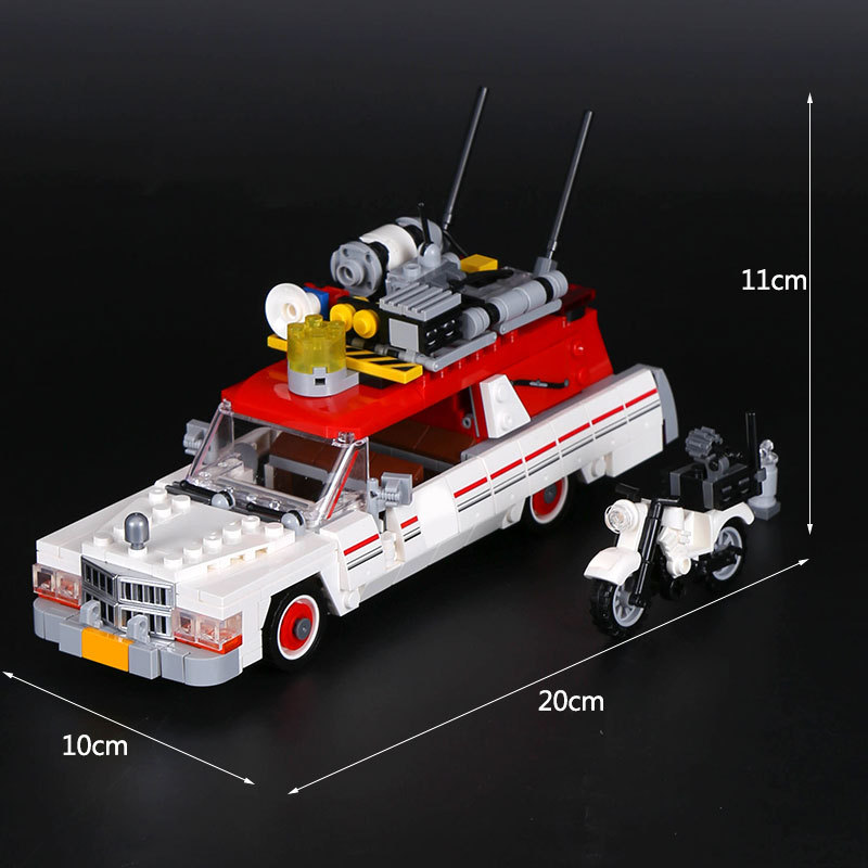 Lepin 16032 586Pcs New Genuine Movie The Ghostbusters Ecto-1&2 Set Children Educational Building Blocks Bricks Toys 75828 lepin 16032 586pcs new genuine movie series the ghostbusters ecto 1