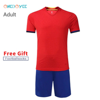 Onedoyee 2018 High Quality New Men Soccer Jerseys Suit Uniform Football Training Set Custom Short Sleeve