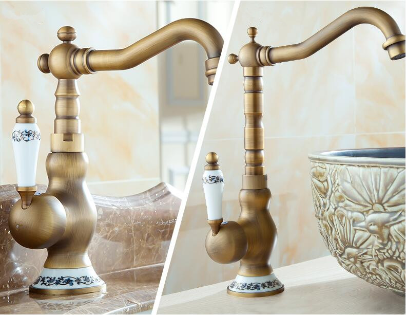 Fashion brass bronze finished ceramic base hot and cold single lever kitchen sink faucet fashion brass chrome hot and cold single lever hot and cold kitchen sink faucet