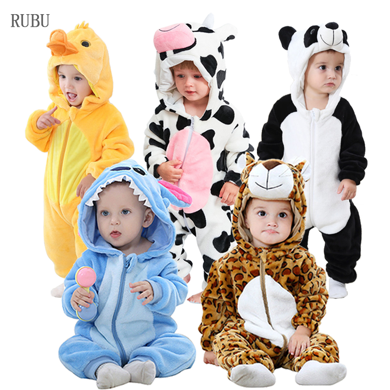 Baby   Rompers   New Born Baby Clothes Winter Boys Girls Jumpsuits Kigurumi Infant Onesies Animal Stitch Pajamas Ropa Bebe Costumes
