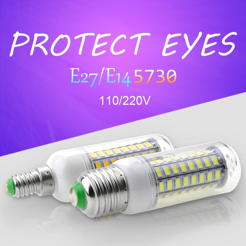 LED Corn lamp E27 220V 24/36/48/56/69/72leds 5730SMD E14 Bombillas led bulb 5W 7W 12W 15W 18W 20W Spiral lamp Energy saving