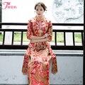 Красный Традиционный Шоу clothing китайский стиль свадебного вечернее платье костюм халат де mariée Vestido де novia де estilo чино