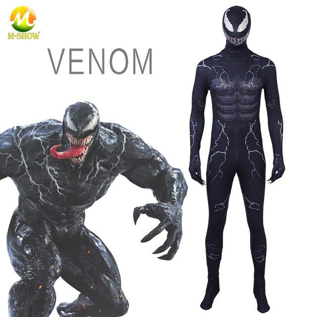 019eb4a39e375 2018 nuevo simbionte Venom disfraz de Spiderman disfraz de la película  veneno Cosplay Marvel negro Zentai