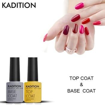 KADITION Top Coat Base Coat UV Gel Nail Polish Long Lasting Manicure Set Lucky Gel Varnish Soak off Top Coat Nail Primer