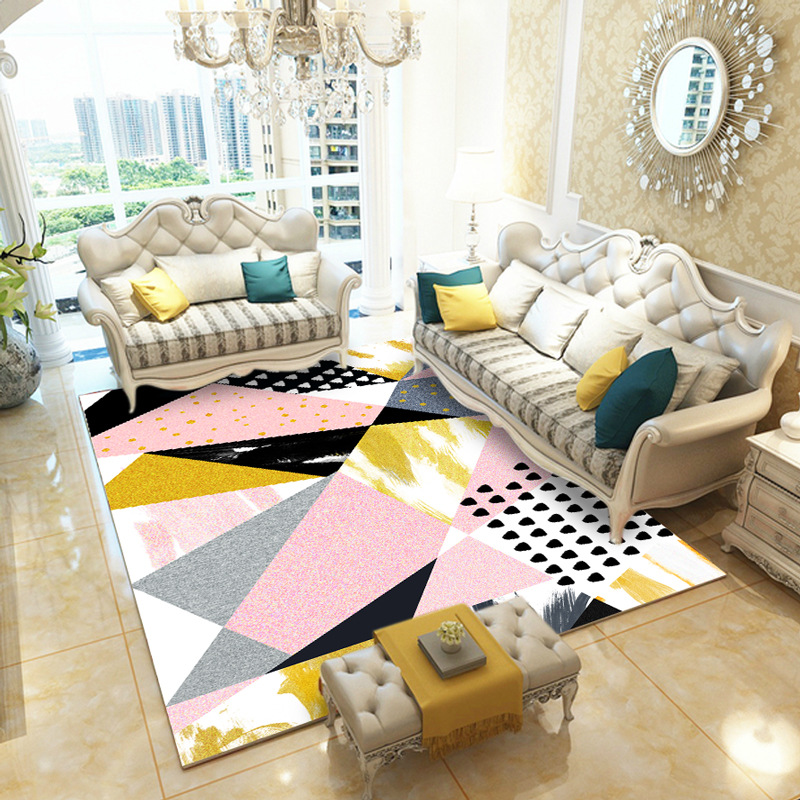 Us 7 59 45 Off Pink Carpet Living Room Home Decor Bedroom Rug Modern Kids Sofa Coffee Table Floor Mat Large Study Area Rugs In