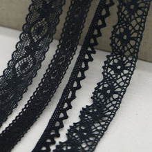 Mixed style black random transmission 1-5CM Good quality cotton lace for garment Lace trim Sewing accessories Cotton