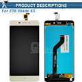 For ZTE BLADE X3 A452 Original LCD Display Touch Screen Assembly Perfect Repair Part 5.0 Inch For ZTE X3 D2 T620 A452 +Tools
