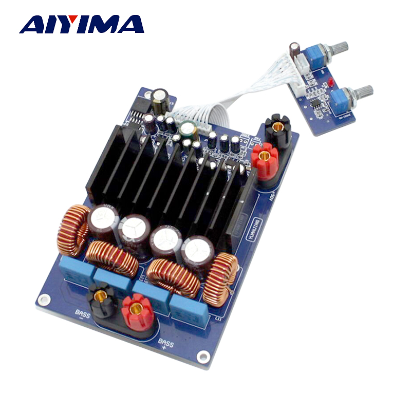 Aiyima 600W TAS5630 Subwoofer Amplifier Board Amplificador Class D Digital Mono Audio Amplifier Board DC48V aiyima tpa3116 4 1 bluetooth amplifiers audio board digital class d amplifier 4 50w 100w amplificador audio 24v car subwoofer