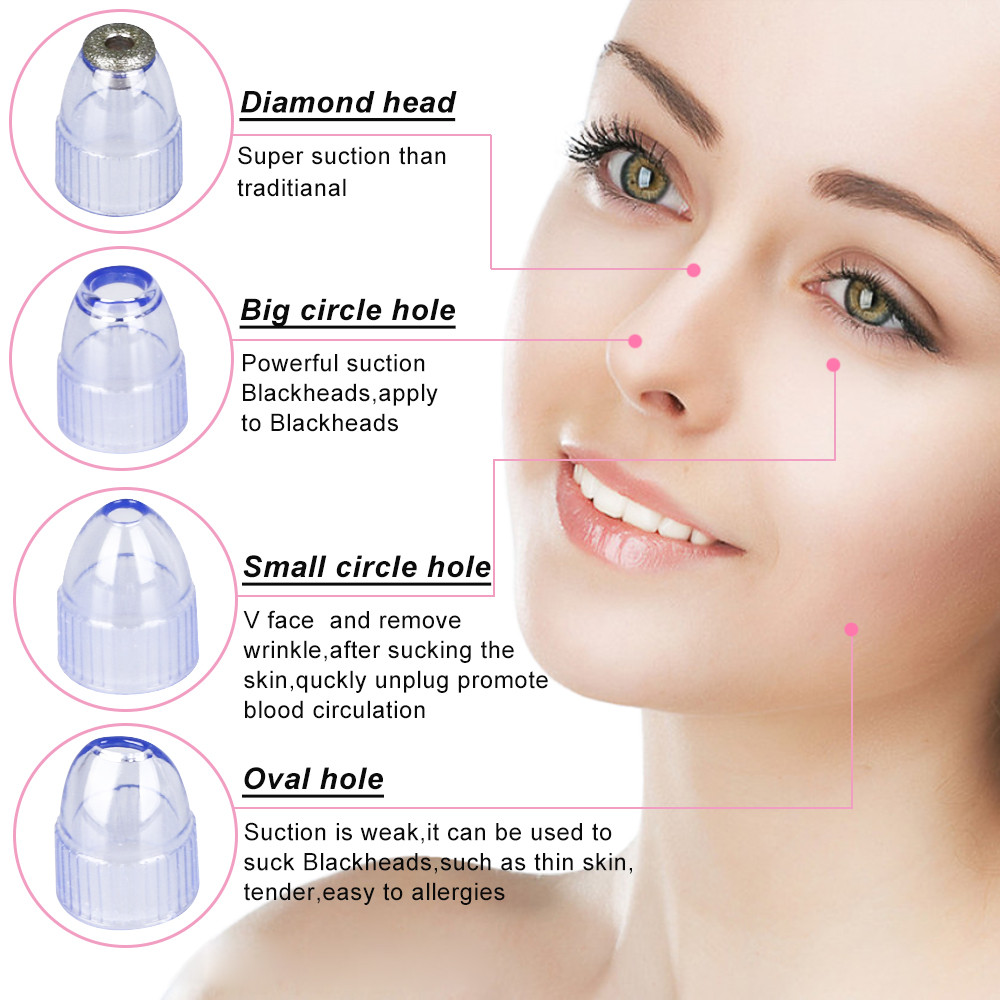 Skin Care Pore Vacuum Blackhead Remover Blackhead Vacuum Acne Cleaner Pore Remover Electric Skin Facial Cleanser Care Face Clean kingdom cares electric vacuum blackhead remover cleaner pores deep cleansing extractor machine soft blu ray spotkd 802
