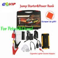 16000mAh Car Jump Starter New Capacity Portable 4USB Phone Power Bank Compass Laptop Cigarette Lighter Socket