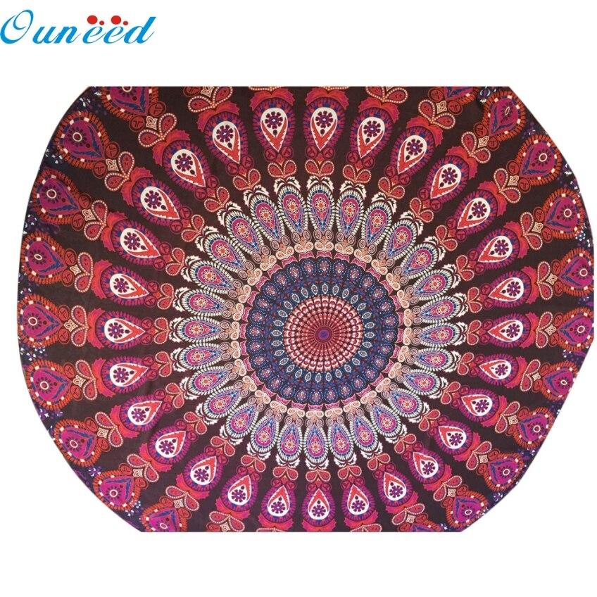 Ouneed Creative Red Table Cloth Gifts Chiffon Fondos De Pantalla Round Beach Pool Home Shower Towel Blanket Yoga Mat